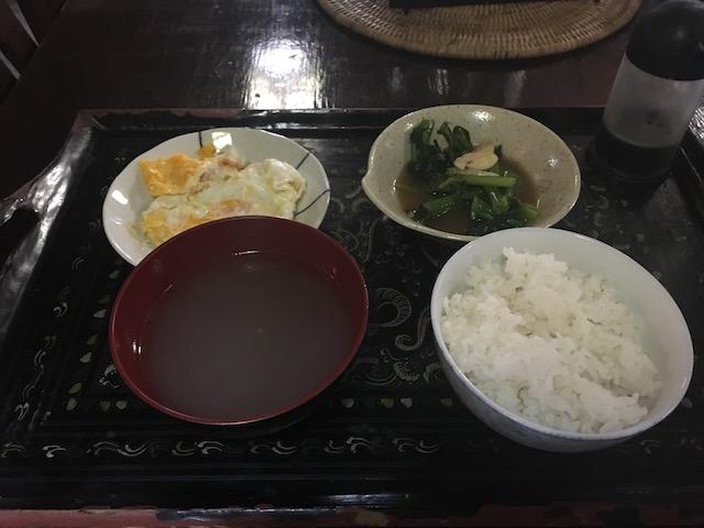 東京ゲストハウスの朝食