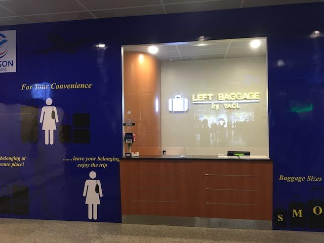 ヤンゴン空港内の荷物預かり所