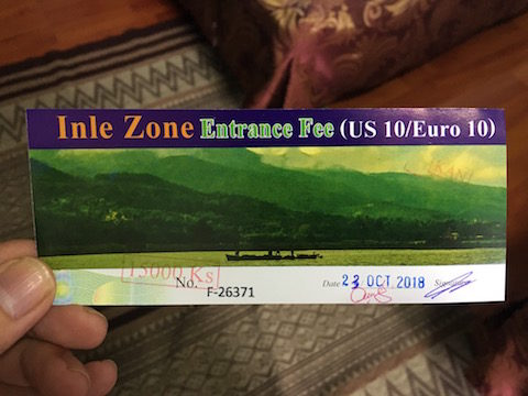 インレー湖入域チケット
