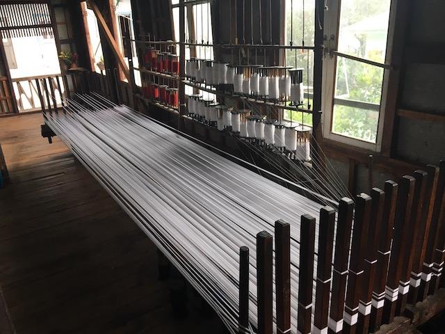 蓮の繊維の加工工程