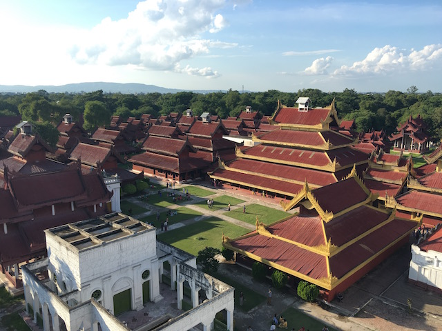 王宮の俯瞰写真