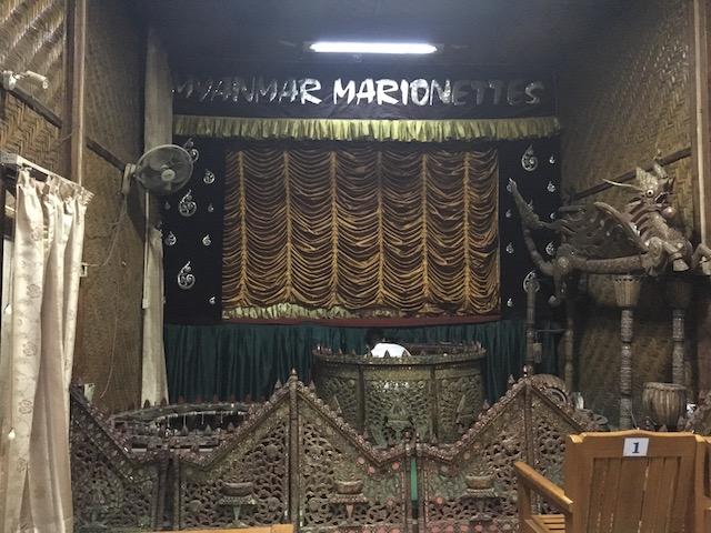 マンダレーのマリオネットショー会場