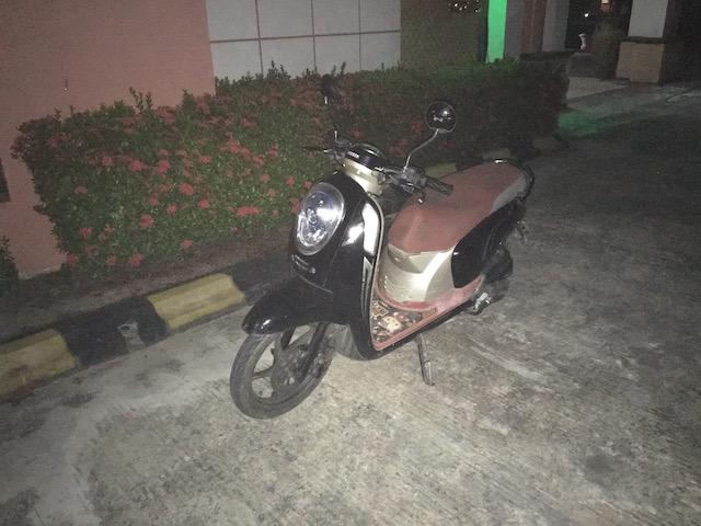 ゴールデンレイクホテルで借りたバイク