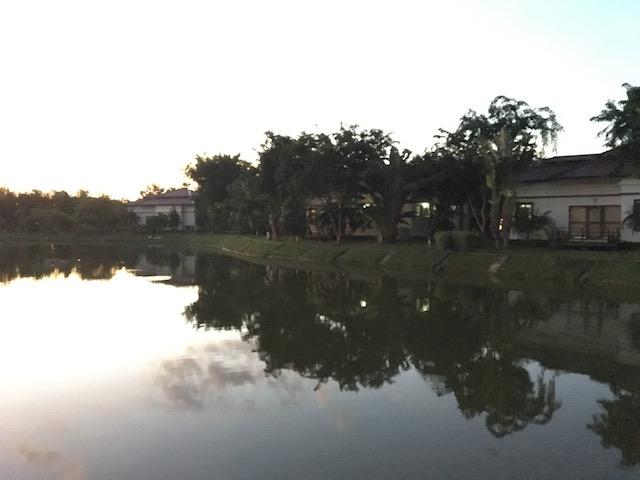 ゴールデンレイクホテルの湖