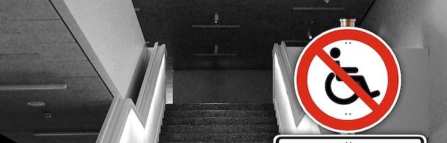 車椅子と階段